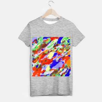 Thumbnail image of camouflage pattern painting abstract background in red blue green yellow brown purple T-shirt regular, Live Heroes