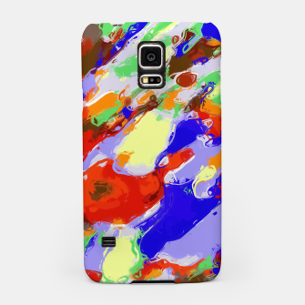 Thumbnail image of camouflage pattern painting abstract background in red blue green yellow brown purple Samsung Case, Live Heroes