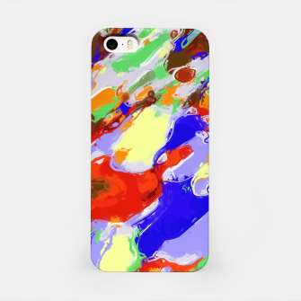 Thumbnail image of camouflage pattern painting abstract background in red blue green yellow brown purple iPhone Case, Live Heroes