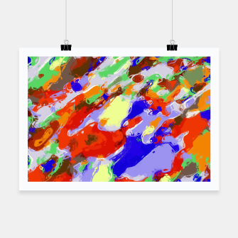 Thumbnail image of camouflage pattern painting abstract background in red blue green yellow brown purple Poster, Live Heroes