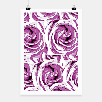 Thumbnail image of closeup pink rose texture pattern abstract background Poster, Live Heroes