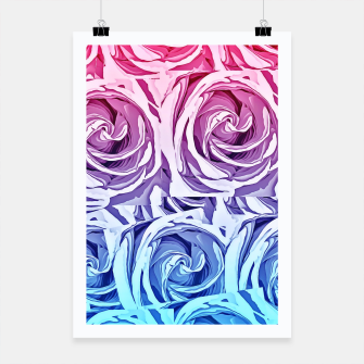 Thumbnail image of closeup pink rose and blue rose texture pattern abstract background Poster, Live Heroes