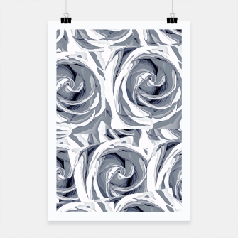 Thumbnail image of closeup white rose texture pattern abstract background Poster, Live Heroes