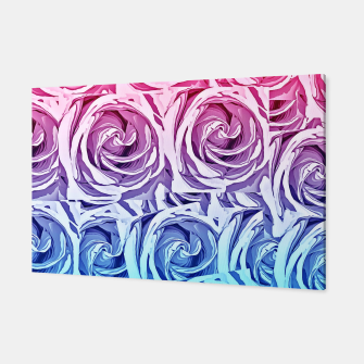 Thumbnail image of closeup pink rose and blue rose texture pattern abstract background Canvas, Live Heroes