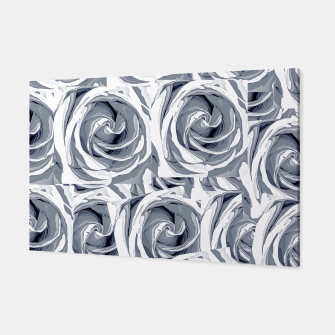 Thumbnail image of closeup white rose texture pattern abstract background Canvas, Live Heroes