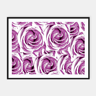 Thumbnail image of closeup pink rose texture pattern abstract background Framed poster, Live Heroes