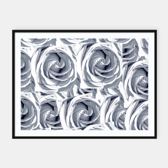 Thumbnail image of closeup white rose texture pattern abstract background Framed poster, Live Heroes