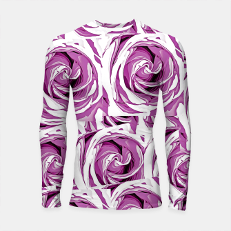 Thumbnail image of closeup pink rose texture pattern abstract background Longsleeve Rashguard , Live Heroes