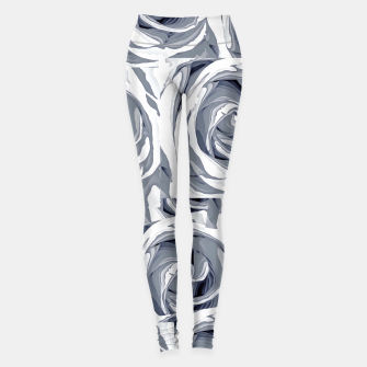 Thumbnail image of closeup white rose texture pattern abstract background Leggings, Live Heroes