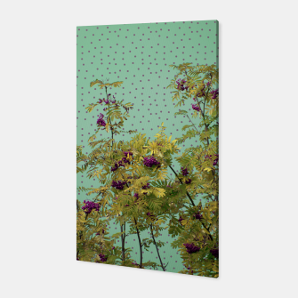 Thumbnail image of Rowan tree and purple polka dots Canvas, Live Heroes