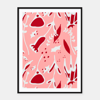 Thumbnail image of Winter floral pink Framed poster, Live Heroes