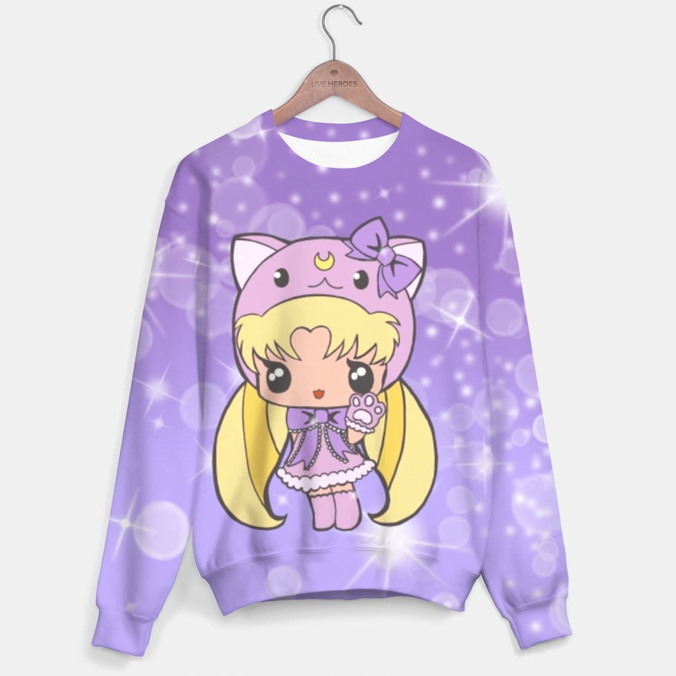 Foto Sailor Moon Cat  Sweater - Live Heroes