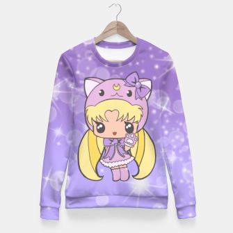 Miniatur Sailor Moon Cat  Fitted Waist Sweater, Live Heroes