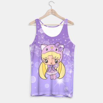 Miniatur Sailor Moon Cat  Tank Top, Live Heroes