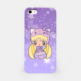 Miniature de image de Sailor Moon Cat  iPhone Case, Live Heroes