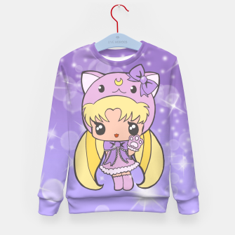 Miniatur Sailor Moon Cat  Kid's Sweater, Live Heroes