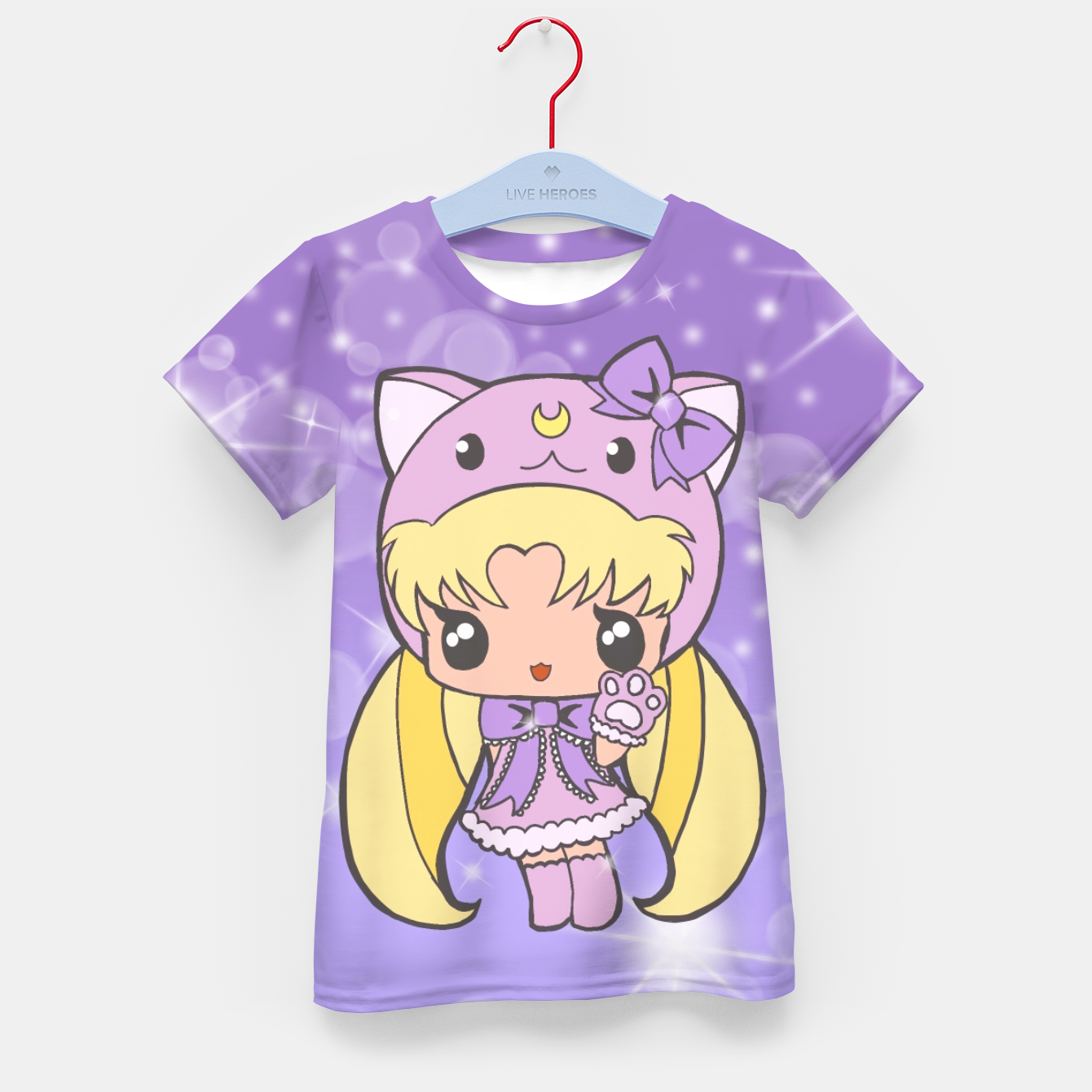 Foto Sailor Moon Cat  Kid's T-shirt - Live Heroes