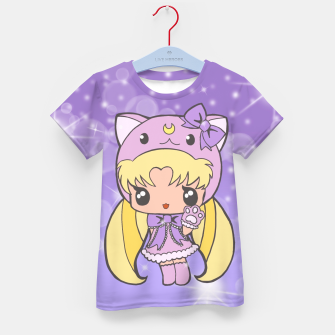 Sailor Moon Cat  Kid's T-shirt Bild der Miniatur