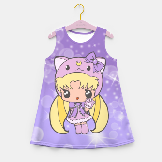 Miniatur Sailor Moon Cat  Girl's Summer Dress, Live Heroes