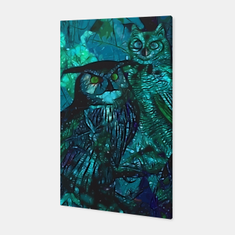 Thumbnail image of  Owls Blue Canvas, Live Heroes