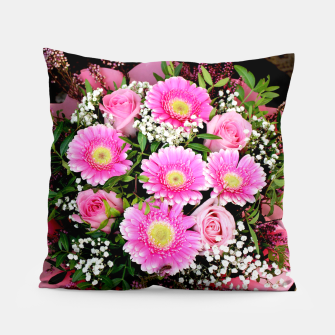 Thumbnail image of Fleurs roses Coussin, Live Heroes
