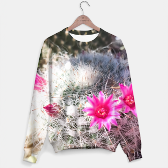 Thumbnail image of cactus in the desert with beautiful blooming pink flower Sweater, Live Heroes
