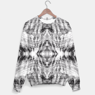 Miniaturka geometric symmetry pattern abstract background in black and white Sweater, Live Heroes