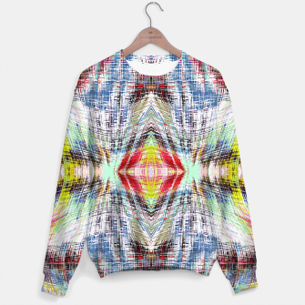 Miniaturka geometric symmetry pattern abstract background in blue yellow red Sweater, Live Heroes
