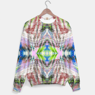 Thumbnail image of geometric symmetry pattern abstract background in pink blue green brown Sweater, Live Heroes