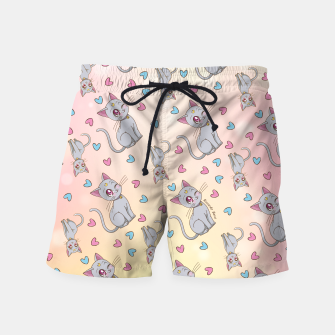 Thumbnail image of Diana's Pattern Swim Shorts, Live Heroes