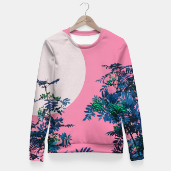 Thumbnail image of Rowan tree and pink sky Fitted Waist Sweater, Live Heroes