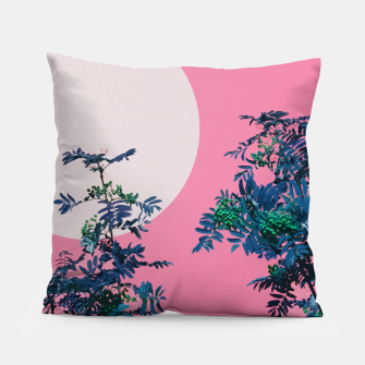 Thumbnail image of Rowan tree and pink sky Pillow, Live Heroes
