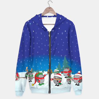Thumbnail image of Hedgehogs Christmas Party Hoodie, Live Heroes