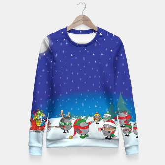 Thumbnail image of Hedgehogs Christmas Party Fitted Waist Sweater, Live Heroes