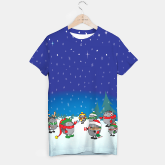 Thumbnail image of Hedgehogs Christmas Party T-shirt, Live Heroes