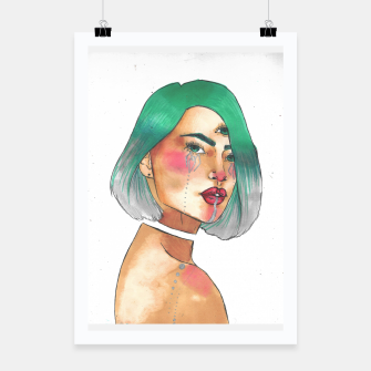 Thumbnail image of Third eye turquoise Poster, Live Heroes