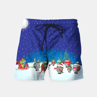 Thumbnail image of Hedgehogs Christmas Party Swim Shorts, Live Heroes
