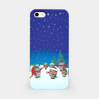 Thumbnail image of Hedgehogs Christmas Party iPhone Case, Live Heroes