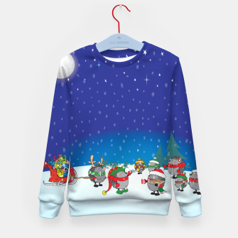 Thumbnail image of Hedgehogs Christmas Party Kid's Sweater, Live Heroes