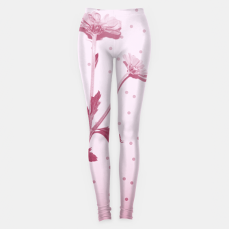 Thumbnail image of Flowers and polka dots 1 Leggings, Live Heroes