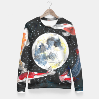 Thumbnail image of The moon  Fitted Waist Sweater, Live Heroes