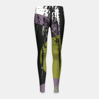 Thumbnail image of Abstract woods Girl's Leggings, Live Heroes