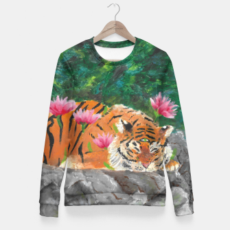 Thumbnail image of Third eye tiger Fitted Waist Sweater, Live Heroes
