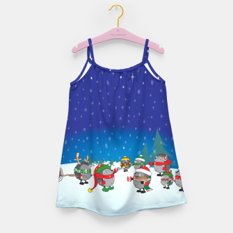 Thumbnail image of Hedgehogs Christmas Party Girl's Dress, Live Heroes