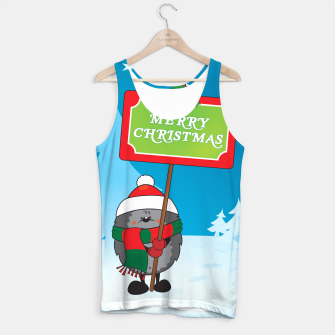 Thumbnail image of Merry Christmas Hedgehog Tank Top, Live Heroes