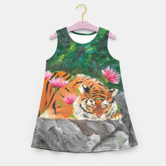Miniatur Third eye tiger Girl's Summer Dress, Live Heroes