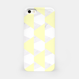 Thumbnail image of Yellow White Gray Geometric Pattern iPhone Case, Live Heroes