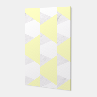 Thumbnail image of Yellow White Gray Geometric Pattern Canvas, Live Heroes