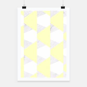 Thumbnail image of Yellow White Gray Geometric Pattern Poster, Live Heroes