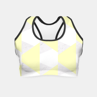 Thumbnail image of Yellow White Gray Geometric Pattern Crop Top, Live Heroes